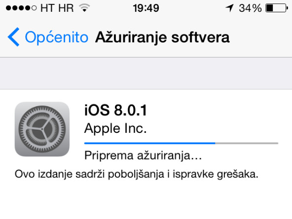 iOS 8.0.1 problem, ne radite update!
